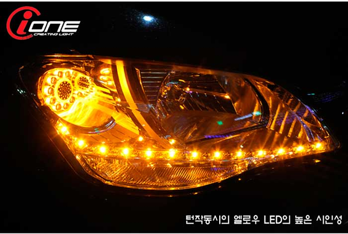 [IONE] SsangYong Korando C - Projector Type LED Q5 Style Headlights Modules (TF Version)(no.1710)