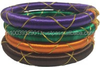 Rajasthan Art Fashion jewellery/Girls Trendy Silk thread bangles