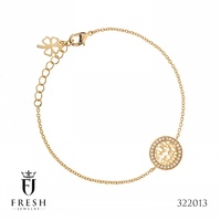 322013 Bracelet Shema Israel , Gold Plated Jewellery Manufacturer, CZ Cubic Zircon AAA