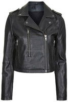 TOPSHOP Neat-Fit Leather Biker Jacket by Boutique motorbike leather jacket men &women