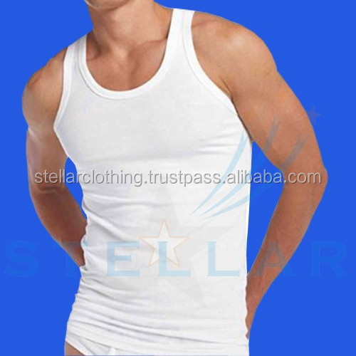 Custom cotton bulk men's vest