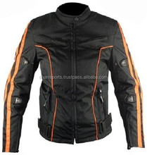 Custom High Quality Men Motorbike Textile Airbag Jacket Motorcycle Cordura Jacket For Auto Racing