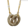 Diamond Latest Design Beads Necklace 18k Solid Gold Chain Intercross Necklace