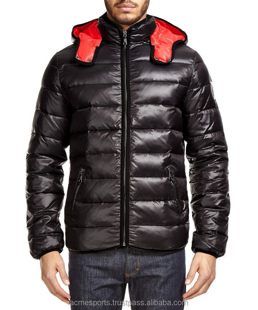 Glo-story quilted jacket with belt for mens