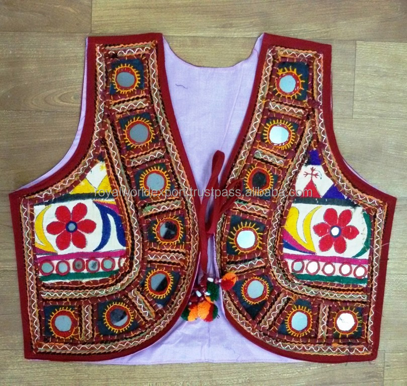 Gujarati Kutchi Embroidery Designer Ladies Waistcoats-jacket-Navratri Special jacket-Indian traditional embroidered Jackets