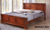 SOLID WOOD BED, WOODEN BED FURNITURE, WOODEN DOUBLE BED