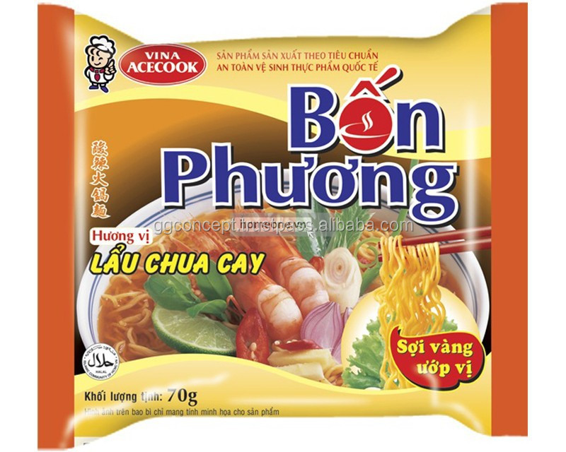 Ace Bon Phuong Hot & Sour Shrimp Instatn Noodle 70g