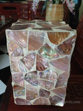 HT2022 Mother of pearl inlaid lacquer table lamp, MDF base - lacquerhomevn.com