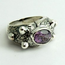 Fabulous Crazy Amethyst 925 Sterling Silver Ring, 925 Sterling Silver Jewelry, Silver Jewellery