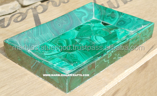 Gorgeous Green Malachite Marble Food Serving Tray
