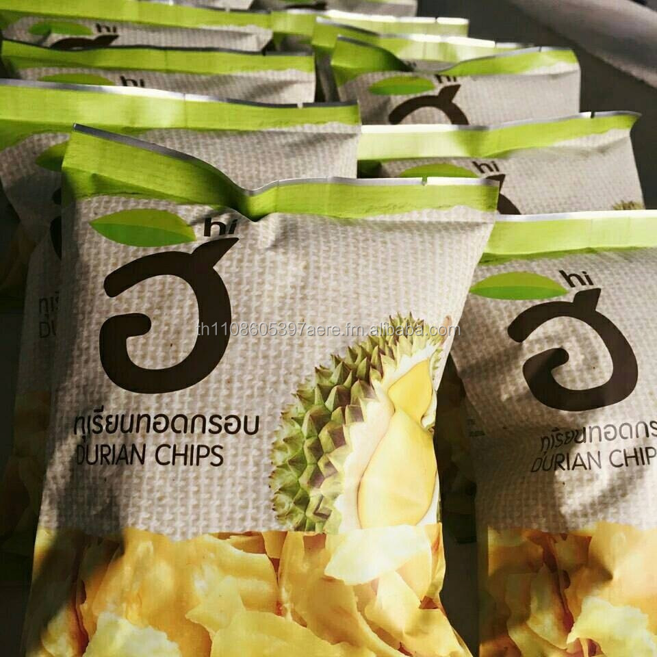 Grade A Durian Chips Modern packaging Size 35 g.