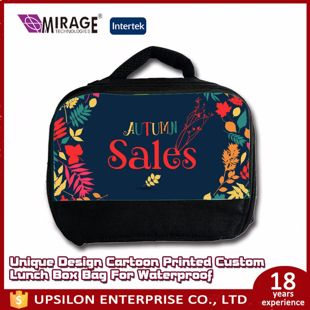 Unique Design Cartoon Printed Custom Lunch Box Bag For Waterproof