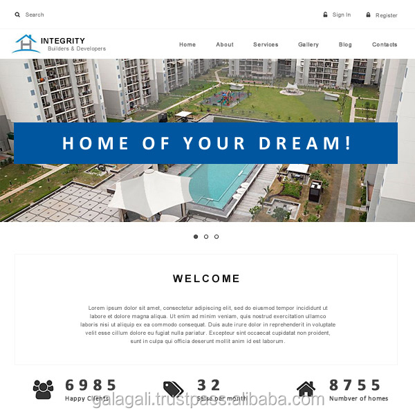 Special Offer for Custom Error Free Website Design and Development with Web Hosting for Real Estate - www.theme4biz.com