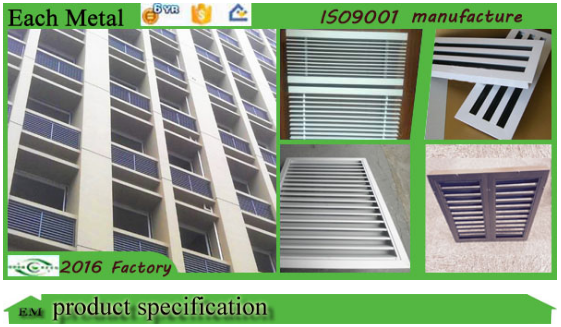 China Suppliers Free Sample Aluminum Awning And Louver