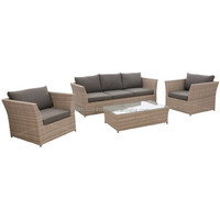 Style 2015 Garden rattan furniture set Outdoor sofa set polyrattan sofa set