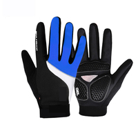 2016 New Style Black Manufacturer Off-road Riding Full Finger Gloves Motorcycle Racing Cycling Gloves