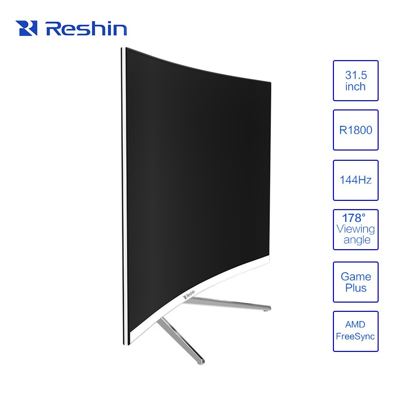 R1800 144hz high defination desktop monitor, 1920X1080 FHD Monitor, curved screen Gaming monitor