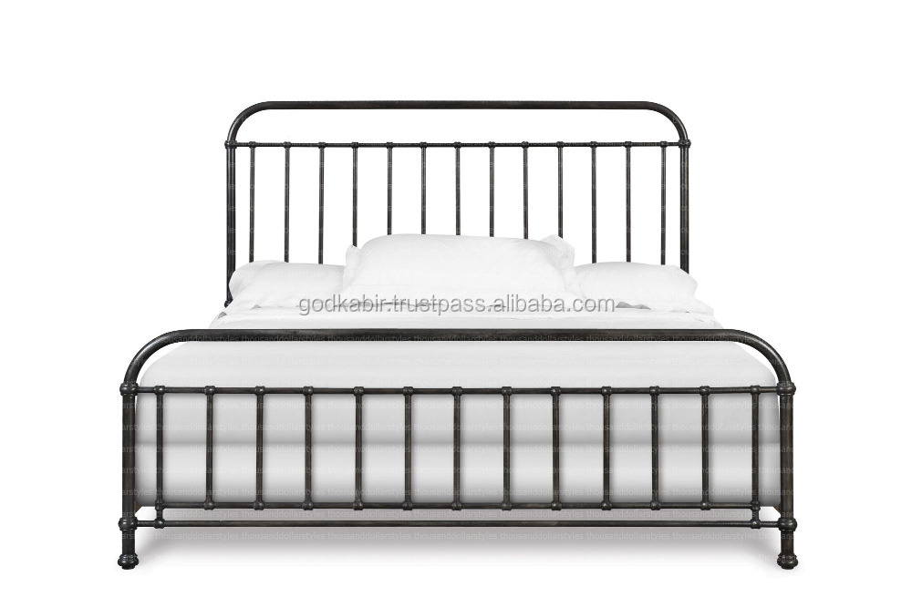 Indian style customer requirement Comfortable And Durable Shady Grove Slat Lightweight Bed.Wholesale rate customer demand metal