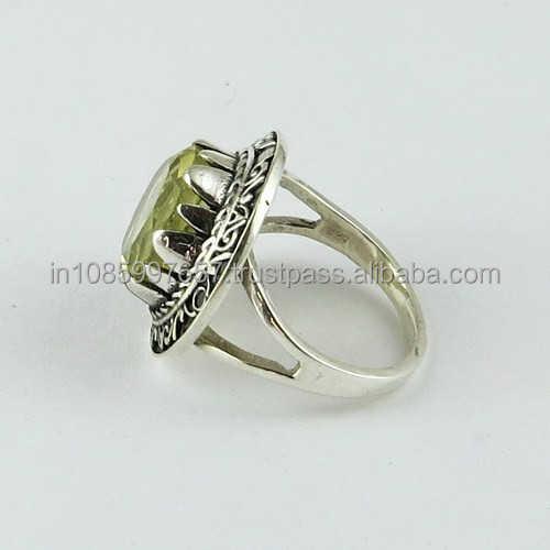 Royal Design Lemon Topaz 925 Sterling Silver Ring, Hot Sale Silver Jewelry, Gemstone Silver Jewelry