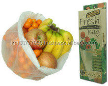 99.9% Anti-Bacterial! Keeps Fruits and Veggies up to 2 Weeks Longer than Usual Plastic Bags! No More Wasting Food! Eco-Friendly!