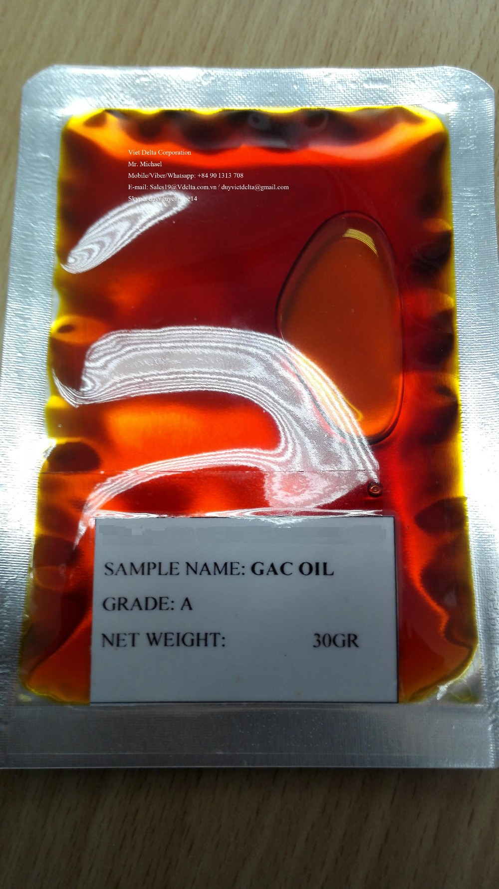 GAC/Momordica Oil High Quality and cheap price from Vietnam