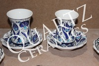 Handmade Turkish Ceramic Turkish Tea Set