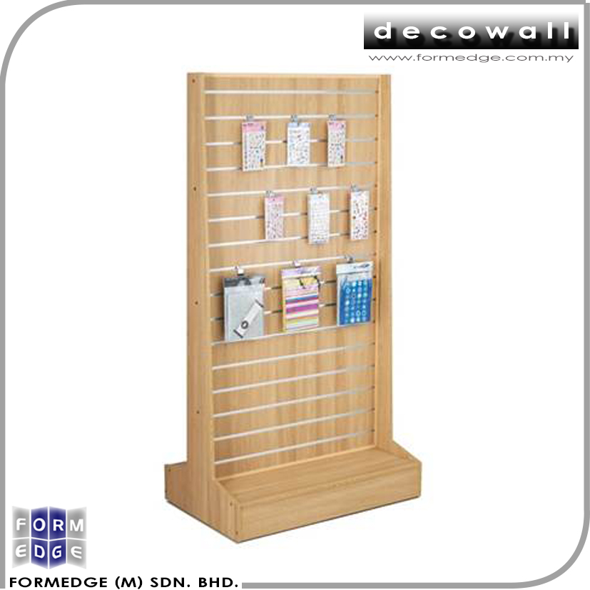 Affordable Quality 2 sided Slatwall island display rack
