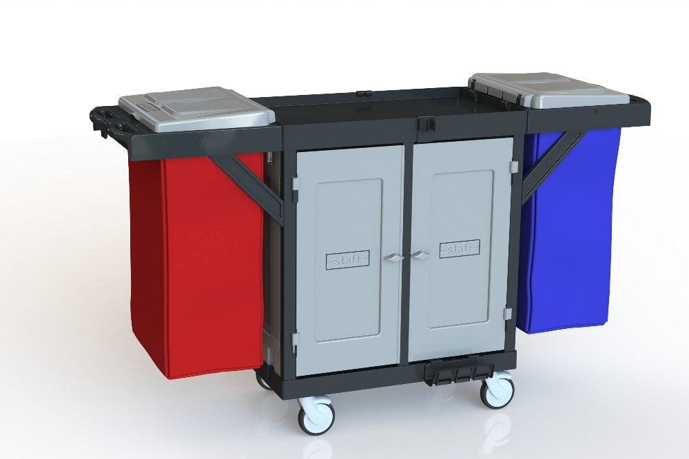 Cleaning Trolley Commercial Design Housekeeping,Hotel Cleaning Trolley Hospital Code: H 1502 D