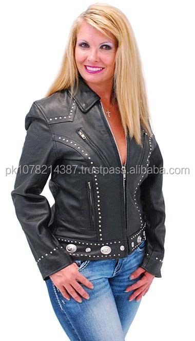 2015 New fashion Mini Stud & Concho Jacket for Woman for womens
