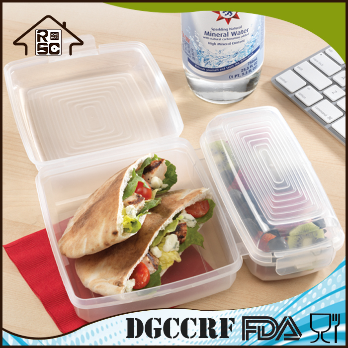 High Production 2 divided Plastic Sandwich Container Lunch Boxes,bento sandwich box kids, takeaway sandwich boxes wholesale