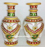 Gold Painting Gorgeous Marble Vase