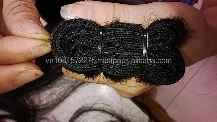 July 2015 hand made machine weft hair for extension