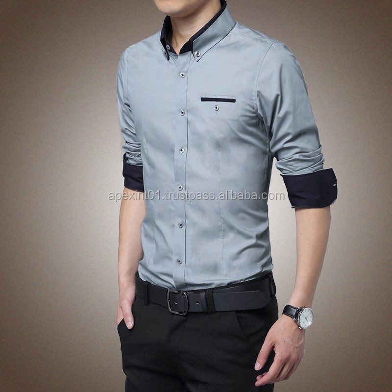 2015 Wholesale Latest shirt designs for men wholesale mens dress shirt