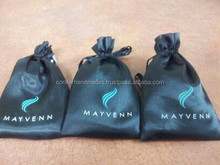 custom logo printed drawstring bags in black available in size 6 *8 inches suitable for shoe stores and apparel designers