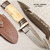 Damascus knife /Damascus Hunting Knife/ fixed blade knife FDT55