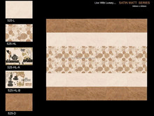 300x450 3D Inkjet glazed bathroom ceramic wall tile very popular in Dubai market made INDIA hot sale Mid-Asia Market 525