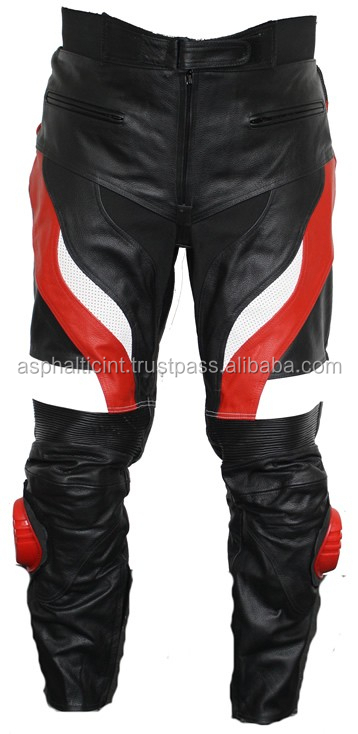 Motorbiker Leather Pants for Men