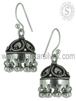 Indian Jhumka 925 Sterling Silver Earring Manufacturer Handmade Silver Jewelry Jhumka Jaipur Jewelry