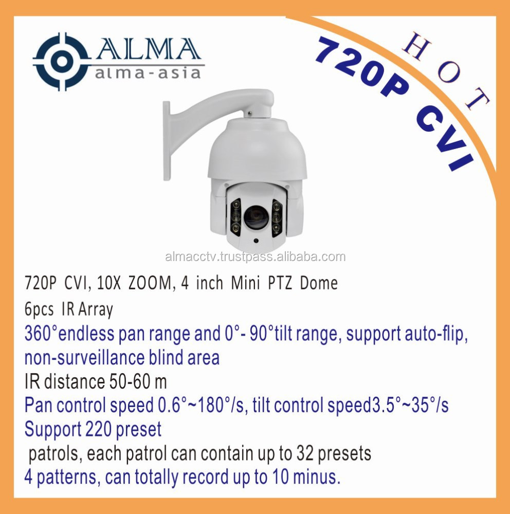 720P CVI 4inch Mini PTZ Dome