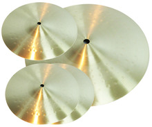 Brass Series Crash, Cymbals Ride, Splash, all Hammered, Lathed Pro Cymbals