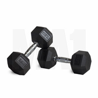 MA1 Rubber Hex Dumbbells - 1kg to 60kg