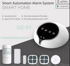 2016 newest WIFI+GSM alarm system wireless security alarm system & wireless home burglar security alarm system