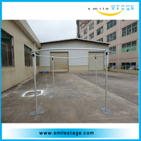 wedding stage backdrop stand telescopic pipe and drape