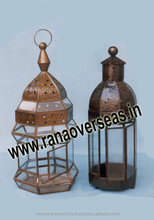 Brass Antique Table Top Candle Lanterns