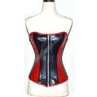 Sexy Fully Tight Lacing Waist Reducing Full Bust Genuine Cow Hide Leather Corset EU-152 sz 3XS/32~7XL/56