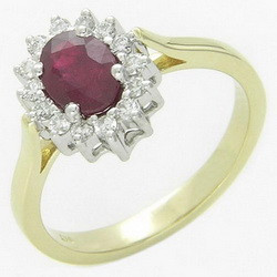 Sweet gift from Thailand for ruby ring at afford price