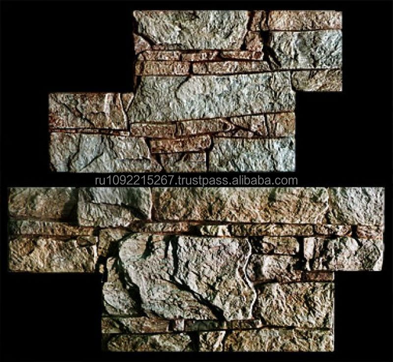 "Imitation masonry of natural stone. Decorative tiles ""Ledge Stone"" under painting. Texture rough stone for home interior design."