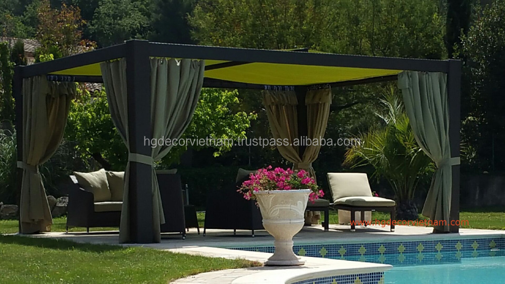 Poly rattan gazebo, aluminium gazebo , patio furniture for wedding , events