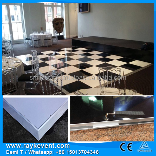 Sinagapore 20ft x20ft dance floor rental cost portable band stages for performing Dance floor tiles