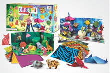 Design 3D origami paper for kids and adults